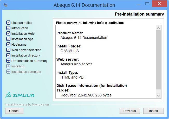 80 12 Pre install Summary کیوتست