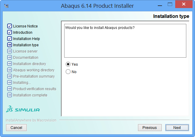 80 41 Install Abaqus Product Confirm کیوتست